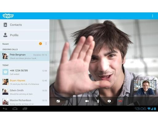 Skype Android tablettes voix © Skype - #Skype, la messagerie préférée des cybercriminels