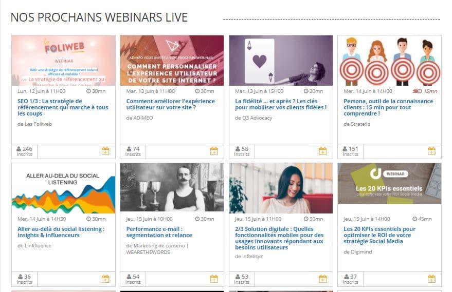 Webikeo marketing - Organisez et suivez des webinairs avec Webikeo