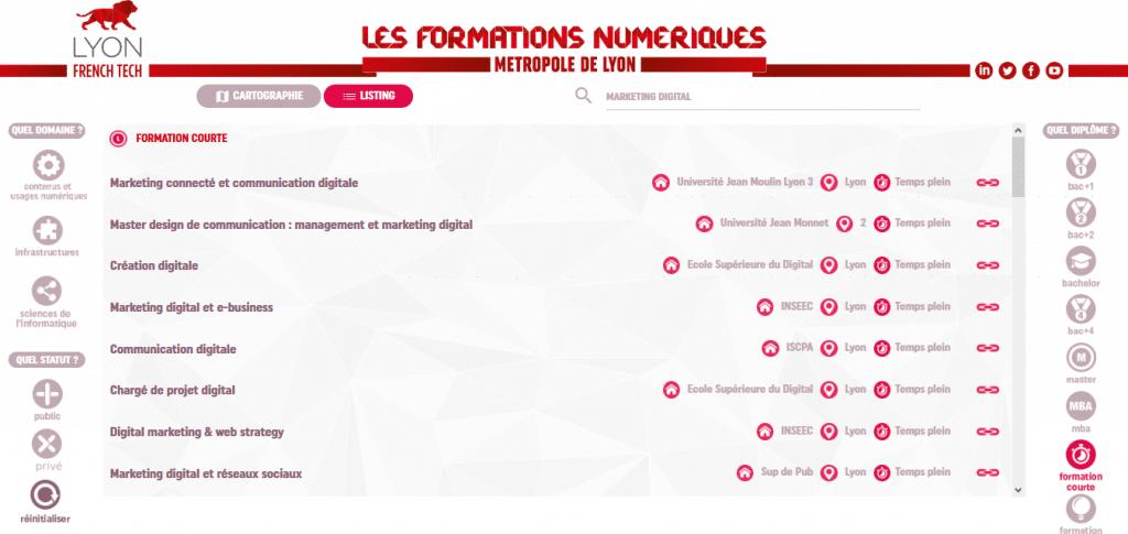 Cartographie des Formations Numériques sur Lyon Lyon French Tech en partenariat avec la Wild Code School 2 1024x485 - Cartographie interactive des formations en numérique en RAA