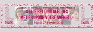 MATINALE LDIGITAL AU CAMPUS REGION DU NUMERIQUE fond gris 300x105 - « Elle est digitale, des métiers pour votre avenir »