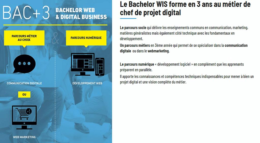 Bac + 3 avec Wis Scool