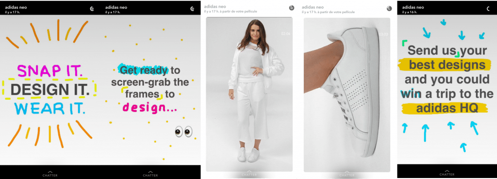 adidas neo 1024x369 - Comprendre Snapchat pour une marque