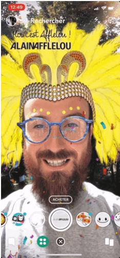 capture decran - Comprendre Snapchat pour une marque