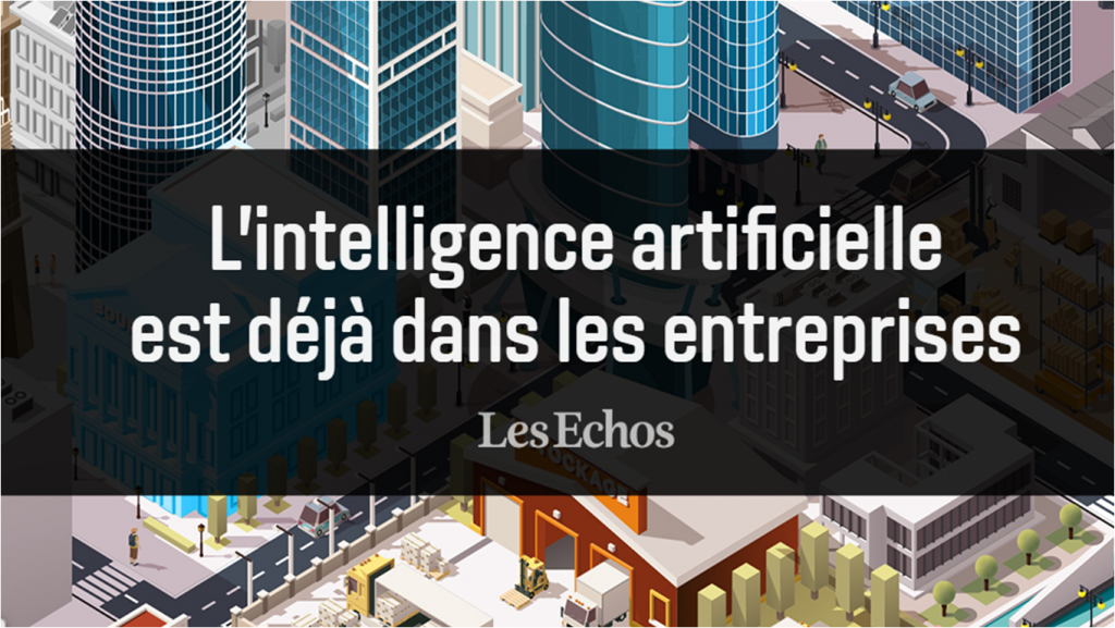 Infographie l'IA en entreprise par Les Echos