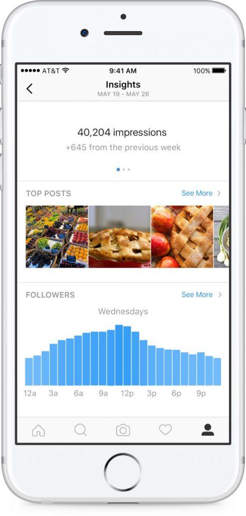 insights instagram 490x1024 - Comment utiliser Instagram comme outil d'acquisition ?