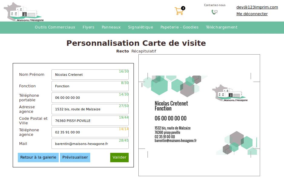 yopp personnalisation carte visite - Edouard Boisson de Chazourmes